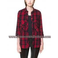 Buy cheap 2014 hot sell OEM factory custom design casual ladies Cotton Shirt from wholesalers