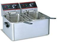 Buy cheap 5.5 Liters 2 Tanks Dual Basket Deep Fryer 50 - 300 Degree CE Certification from wholesalers