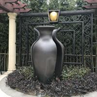 Buy cheap Vase Shaped Metal Art Sculpture Black Color Painted Metal Lawn Sculptures from wholesalers