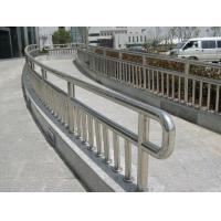 Buy cheap Flooring Mounted Stainless Steel Banisters / Stainless Steel Hand Railing from wholesalers