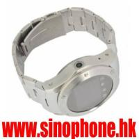 Buy cheap W968 watch mobile with quad band Stainless steel watch resistant in watch style from wholesalers