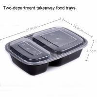 Buy cheap two-compartment 1000ml PP material takeaway food trays with lid product