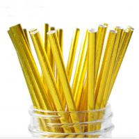 Buy cheap Food Grade Gold Blocking Coloured Paper Straws , Decorative Drinking Straws Pass FDA from wholesalers