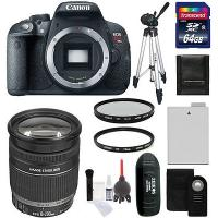 Buy cheap Canon EOS Rebel T5i Digital SLR Camera Body + 18-200mm IS Zoom Lens + 64 GB Kit from wholesalers