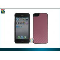 Buy cheap Pink, Blue Plating PC Hard Cover for Iphone 5 Protective Cases with Carbon Fiber Sticker from wholesalers