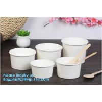 Buy cheap Disposable paper hot soup cup with paper flat lid,microwaveable deli container disposable plastic hot soup cups bagease from wholesalers