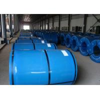 Colorful Prepainted Steel Coil 600 ~ 1250mm Width For Construction / Buildings