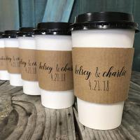 Buy cheap Wrapped Branded Coffee Cup Sleeves Food Grade Custom Size With Flexo Printing from wholesalers