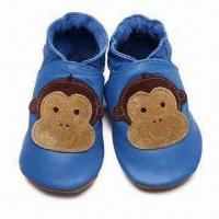 Buy cheap Leather Infant Shoes with Handmade, Flexible Features and Thickness of 1.465mm from wholesalers