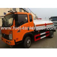 Buy cheap 3CBM Portable Oil Tanker Lorry , Self - Priming Pump Diesel Fuel Truck Separated Storage from wholesalers