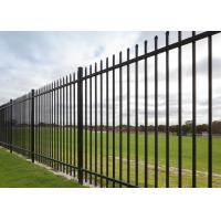 "Buy cheap 2 Rail Steel Fence With 1"" Picket 1 ¾"" Rail Of The Fence Panel And 2 1/2"" Posts from wholesalers"