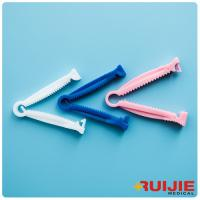 Buy cheap Disposable Medical supplies white blue pink colors  PE plastic one pin/two pins Umbilical Cord Clamp from wholesalers