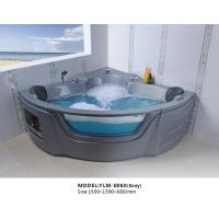 Buy cheap Square Corner Massage Bathtub with Jacuzzi in White or Grey from wholesalers
