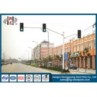 Buy cheap Powder Coated Double Arms Traffic Sign Poles , Traffic Sign Posts from wholesalers