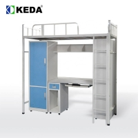 Buy cheap 192cm Long 180cm High Steel Bunk Bed With Desk from wholesalers