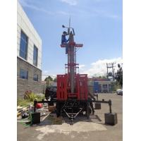 Buy cheap 10-30m height pneumatic telescopic antenna mast , trailer mounted mast tower,telecom single mast tower,dark color from wholesalers