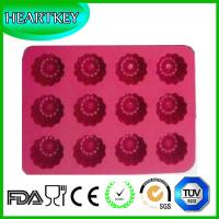 Buy cheap 12-Cavity Flower Shaped Silicone Cake Pan Soap Mould Muffin Baking Tray Fondant Mold from wholesalers