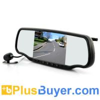 Buy cheap 5 Inch Car Rear View Mirror with Dashcam and Wireless Parking Camera (GPS, Speed Radar Detector, Bluetooth) from wholesalers