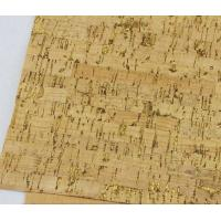 Buy cheap Popular Shiny Gold Fleck Nature Cork Fabric/Leather for Bag, Wallet, Decoration from wholesalers