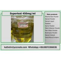 Buy cheap Injection Oil Based Steroids Liquid Supertest 450 Yellow Appearance For Muscle Building from wholesalers
