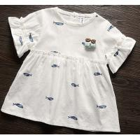 Buy cheap 100%cotton voile baby short sleeve dress from wholesalers