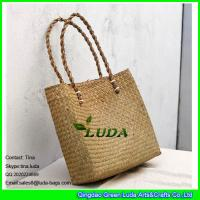 Buy cheap LUDA summer straw woven handbag natural wicker seagrass straw beach bags from wholesalers