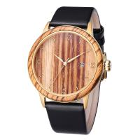 Buy cheap Classic Design Genuine Leather Strap Wrist Watch Ladies Wooden Watches Men from wholesalers