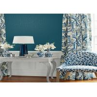 Buy cheap Blue Simple Plain Wallpaper Non Pasted For Home Decoration , SGS CE Listed product