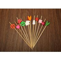 Buy cheap Barbecue Decorative Bamboo Skewers , Bamboo Cocktail Sticks Eco Friendly from wholesalers