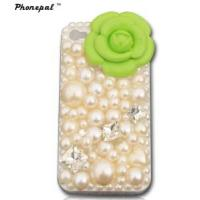 Buy cheap Handmade High Quality Flower Pearl Phone Cases (CH-IP4-074) from wholesalers