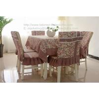 Buy cheap Wholesale retro rosset cotton tablecloth with border and chair cover for home decor, from wholesalers