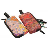 Buy cheap Stylish Solid Color Zippered Cosmetic Bag / Stationery Pencil Case For Office from wholesalers