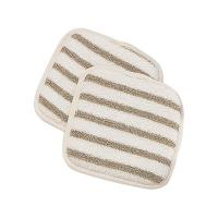 Buy cheap Cotton Stripe Skin Scrubbers Quare Exfoliating Pads For Body from wholesalers