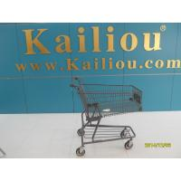 Buy cheap Custom Metal Shopping Carts for groceries with front advertisement from wholesalers