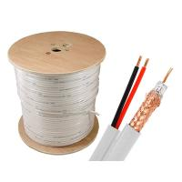 Buy cheap 2 CORE Powerful RG59 Coax Cable , 75Ohm Siamese Coax Cable For Satellite from wholesalers