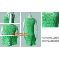 Buy cheap Casual Fashion, Vintage O-Neck, Sleeveless, Women Long Crochet, Chiffion Blouse Plus Size from wholesalers