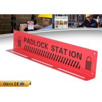 Buy cheap ZC-S003 Durable Red Lockout Tagout Station , 417g Steel Material Lockout Board from wholesalers