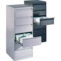 Buy cheap Powder Coated Lockable Filing Cabinets , Tilt Proof Six Drawer File Cabinet from wholesalers