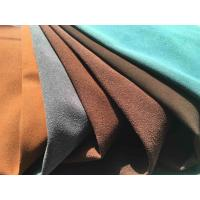 Buy cheap Recycled Eco Friendly Leather Fabric With Warp Knitting Fabric Backing from wholesalers