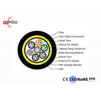 Buy cheap Standard Fiber Optic Ethernet Cable 48cores G652D Double PE Jacket 3km/Roll from wholesalers