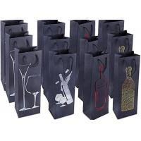 Buy cheap Paper Wine Bottle Gift Bags Single Bottle Wine Alcohol Liquor Spirits Bag  4.7 x 3.7 x 15.5 Inches from wholesalers