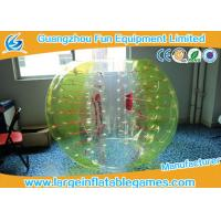 Buy cheap Yellow and white Knocker ball soccer Inflatable Bubble Ball ballon for Clubs from wholesalers