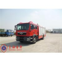 Buy cheap Electronic Speed Limit CAFS Fire Truck 4x2 Drive 9850×2500×3200mm Dimension from wholesalers