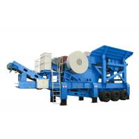 Buy cheap PP Series Mobile Jaw Crusher With Belt Conveyor / Coal Crushing Plant 10 - 35m3/H Capacity from wholesalers