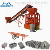 Buy cheap Best selling low price BR4-24 Semi auto cement hollow block solid brick paver brick making machine africa kenya ghana from wholesalers