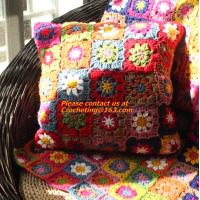 Buy cheap crochet lace blanket for warm crochet table cloth sofa blanket sierran blanket carpet mats colorful design from wholesalers