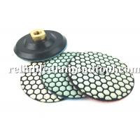 Buy cheap 10 PCS 4 Inch Diamond Polishing Pads Dry With 1 PCS Backer Up Pad from wholesalers