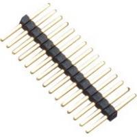 1.0mm 1*15P DIP PA9T Black Single Pin Header Connector Pe Bag For PCB Board