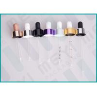 Buy cheap Aluminum Sheathed Bulb Glass Liquid Dropper , 20/400 Colorful Glass Bottle Dropper from wholesalers