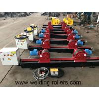 Buy cheap Lead Screw Pipe Welding Rotator Rubber And Steel Wheel Welding Roller Beds 20T Load Capacity from wholesalers